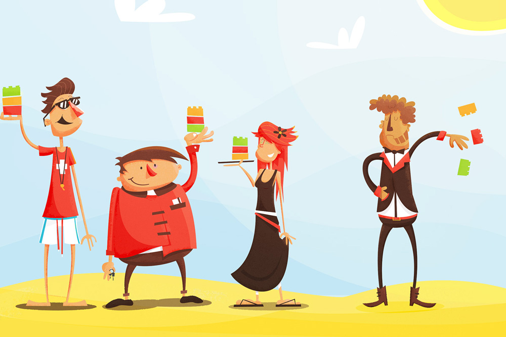 Character design editorial illustration