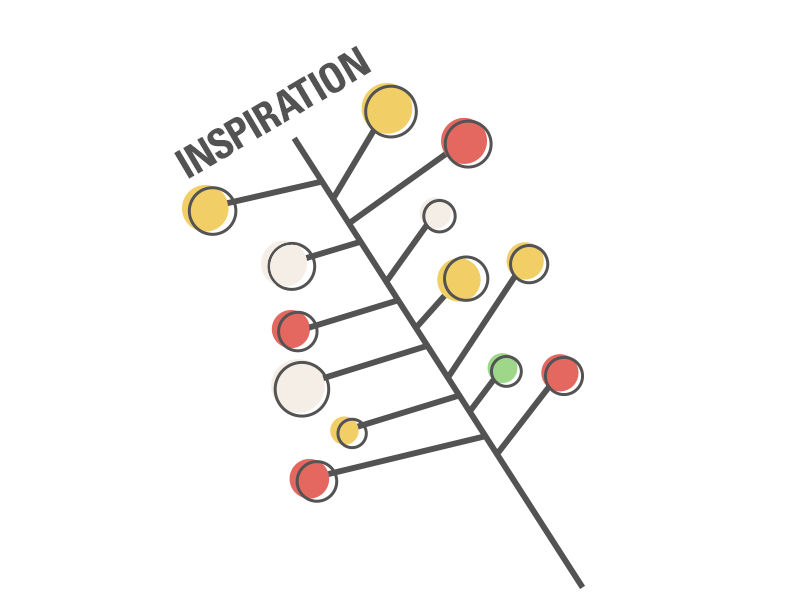midcentury inspired decoration illustration