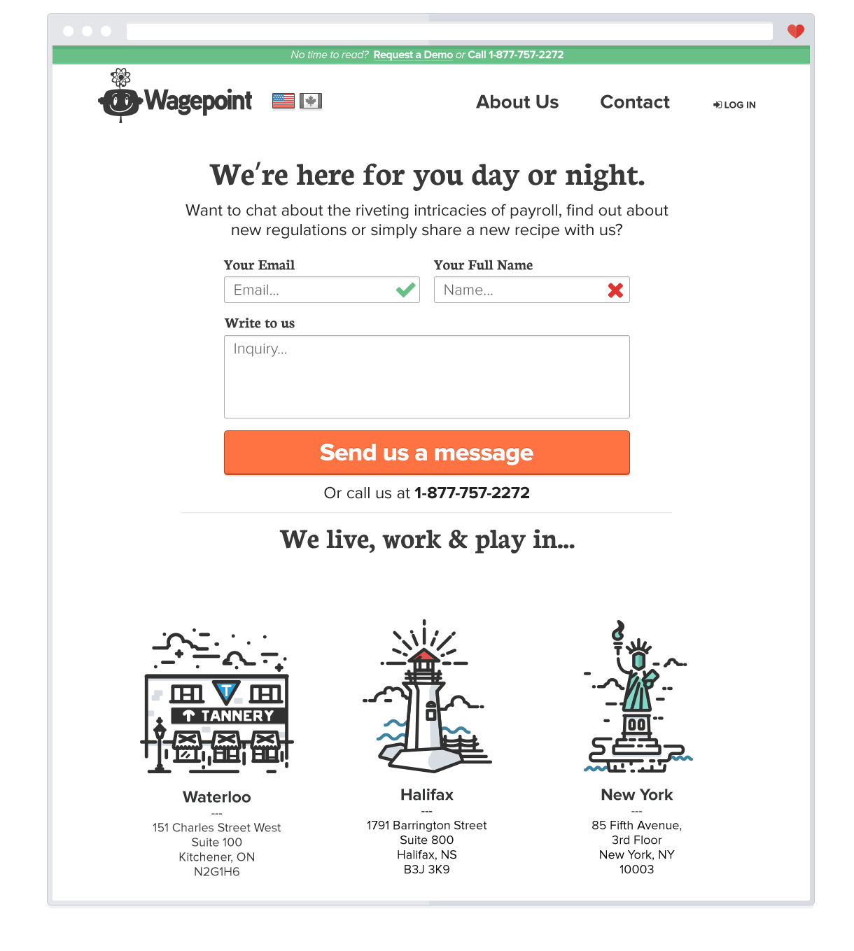 Wagepoint Contact page 2014
