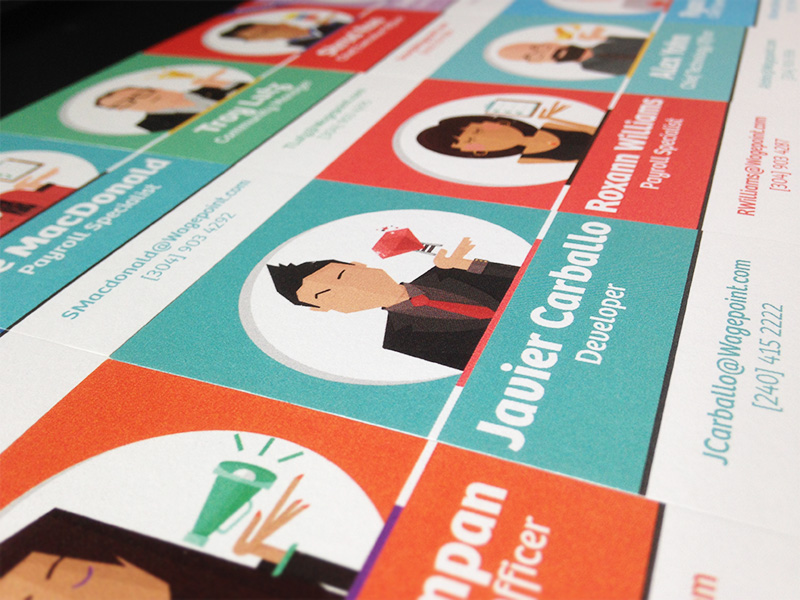 Wagepoint business cards printed by Moo