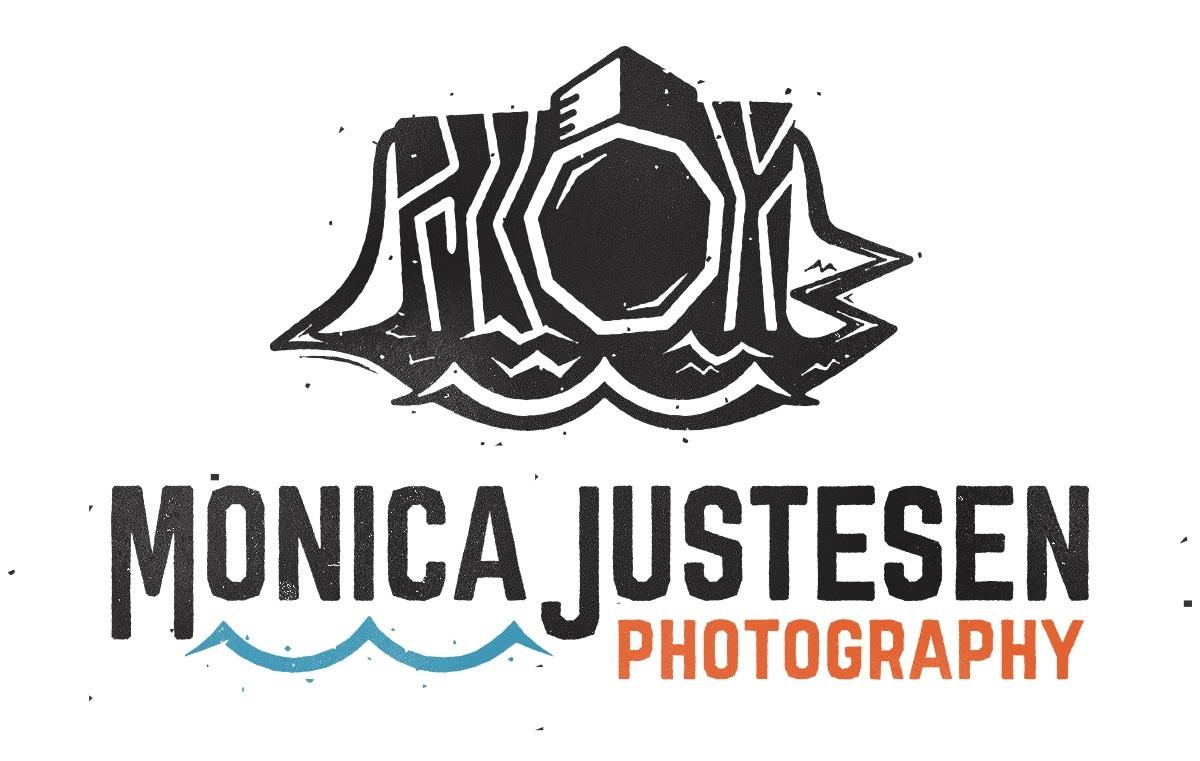 Monica Justesen Photography logo with wordmark