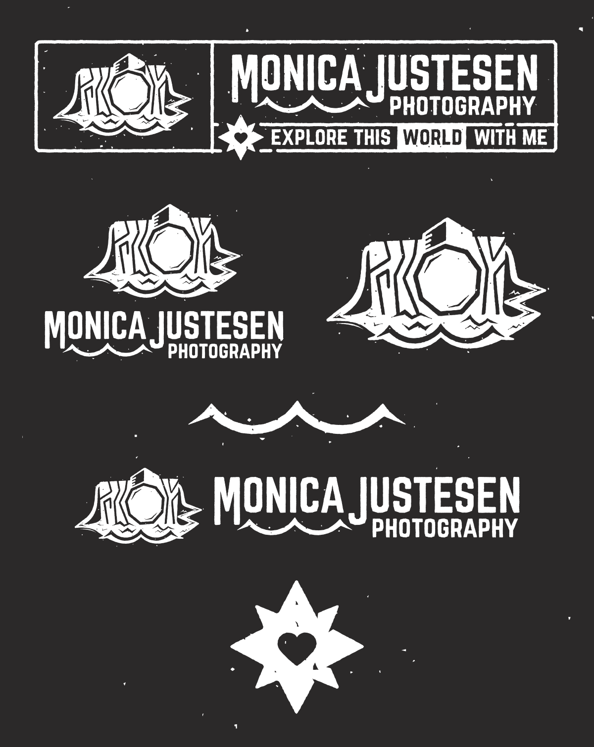 Photography logo in use on portrait photo