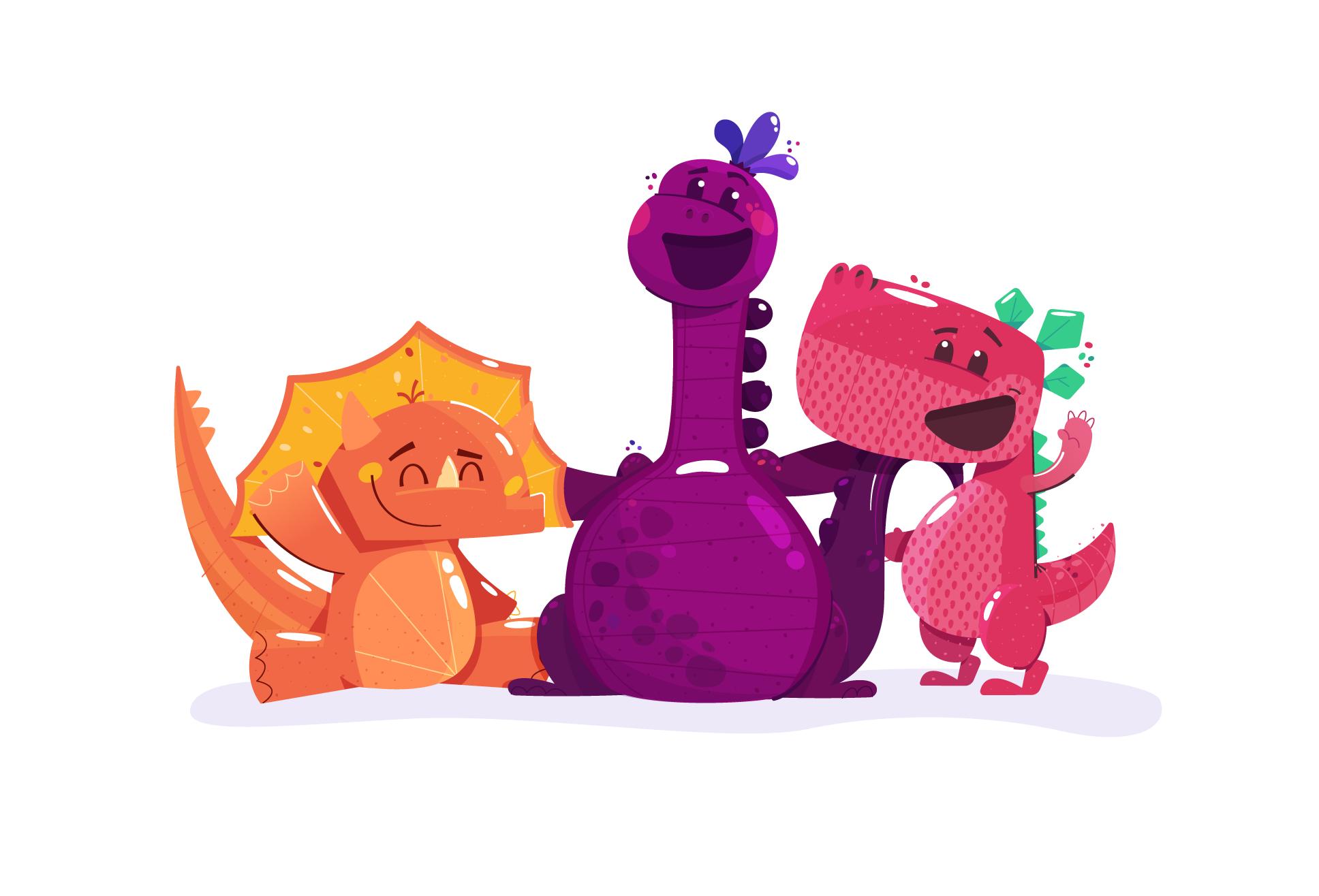 Publix Gummies Illustration - Kirk Wallace Dinosaurs 03