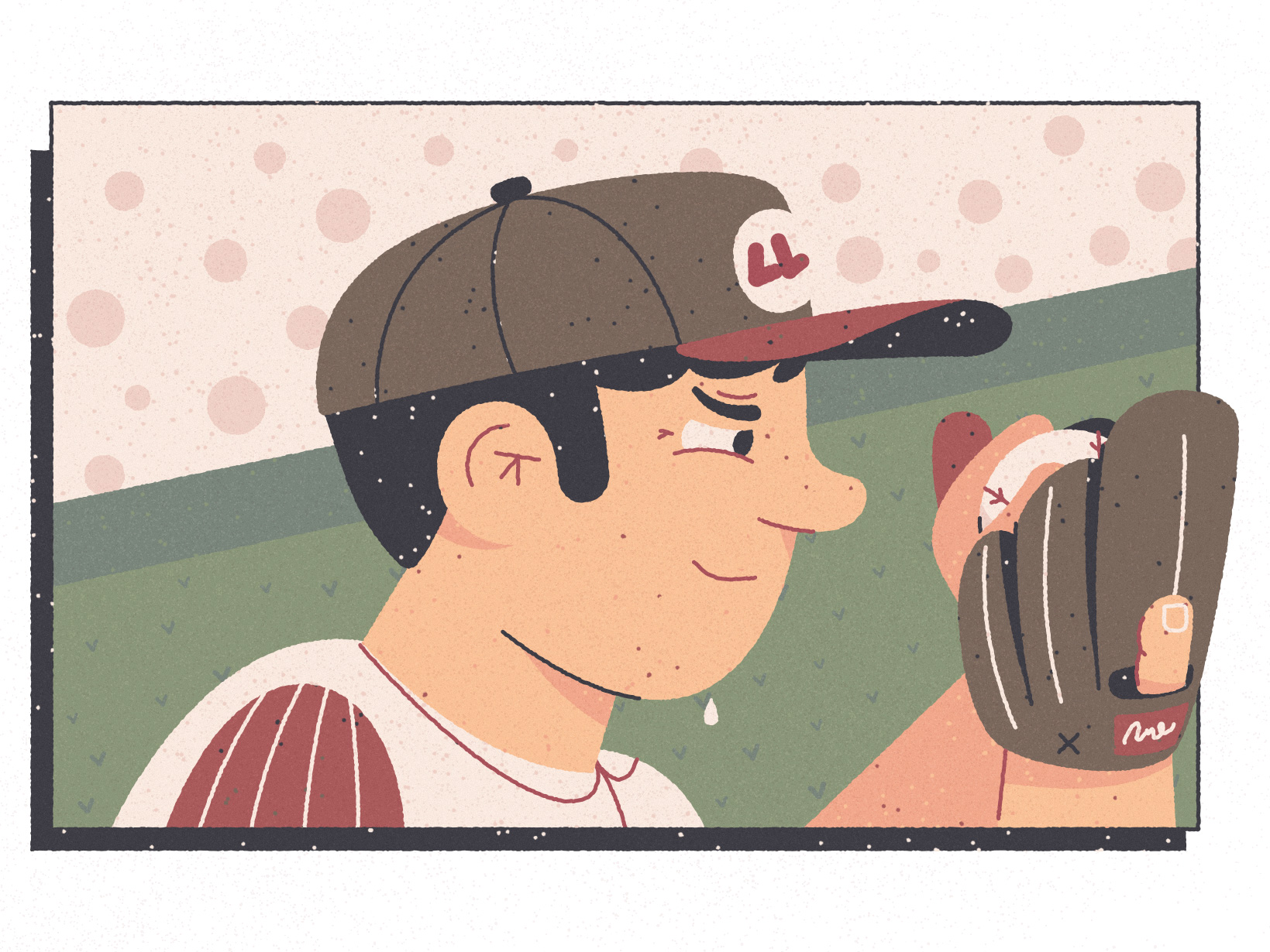 Boston Time Out Mural - Illustration Kirk Wallace Baseball Pitcher