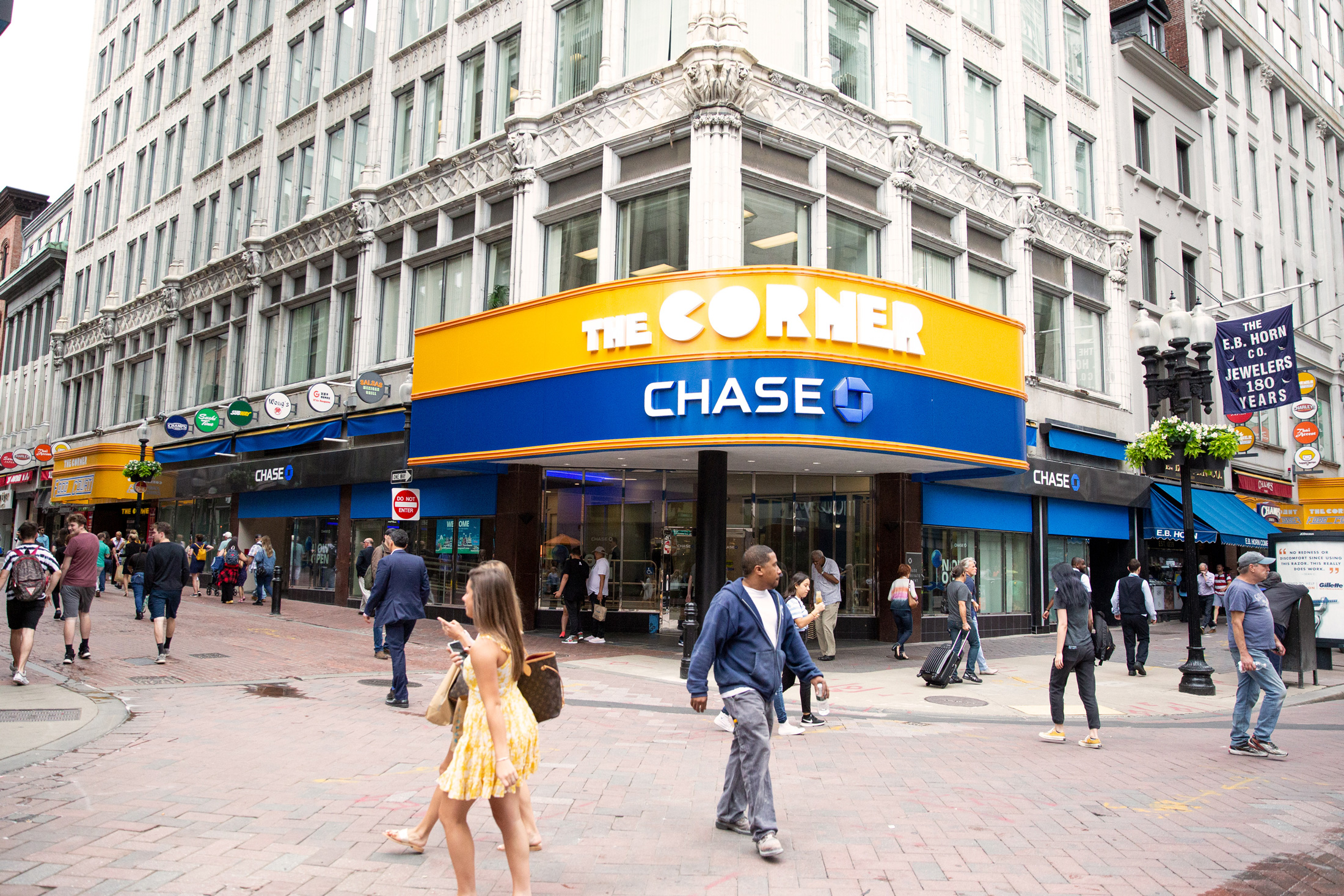 Chase Bank Downtown Boston illustration by Kirk Wallace