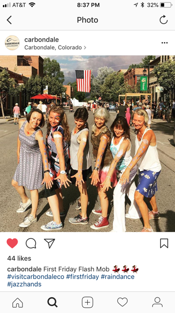 Dancers from left to right: Heather Pratt, Monika Baez, Debi Bruel, Lynn Ruoff, Alexandra Jerkunica, Janne Nikolajsen.