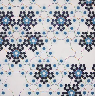 """Quasi Schechtman  , 70"""" x 70"""", acrylic on canvas, 2011"""