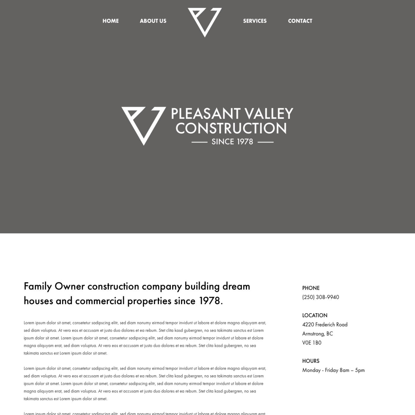 Pleasant Valley Construction - wireframe.png