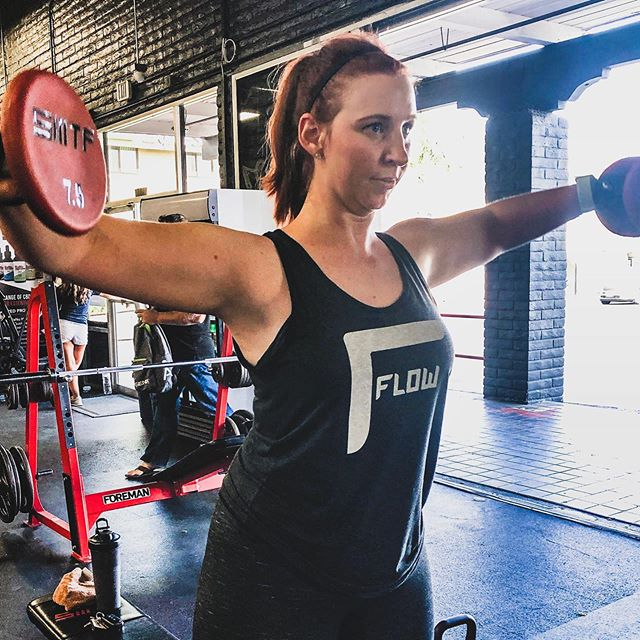 Had to make sure to wear my #flerch to training today since @flowsupps is how I even can make it through each one 😆😆 photo cred: @jfoxfitness