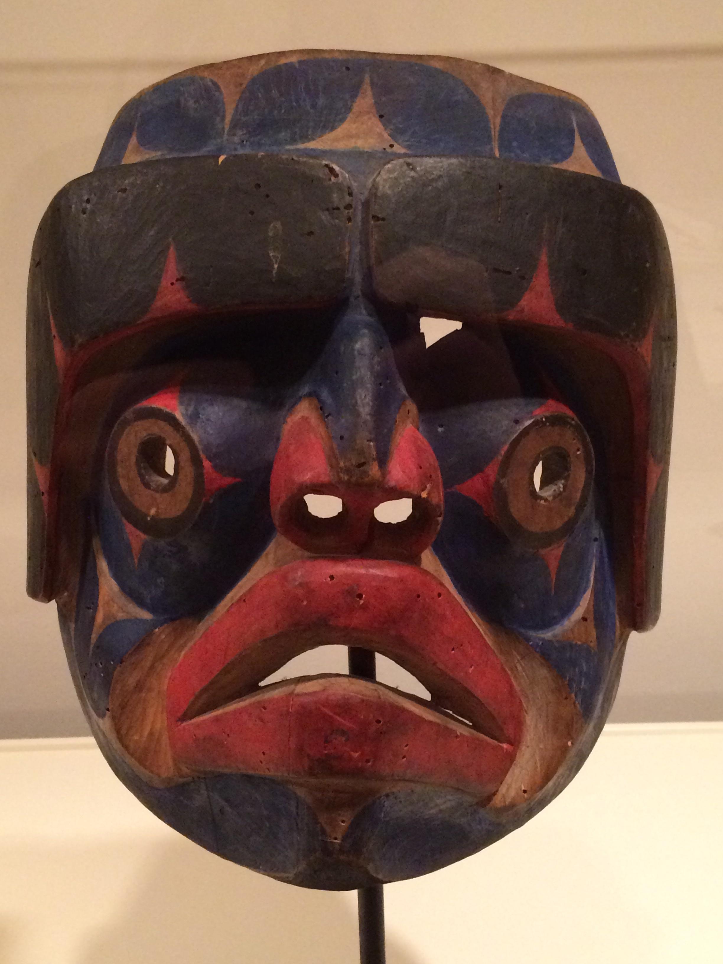 NUXALK ARTIST - Mask 1880 (wood, pigment)