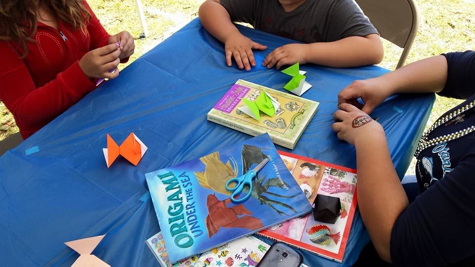 Origami Lessons in the Park - Children's Day: March 28, 2015We love hosting origami lessons, let us know about your next event!
