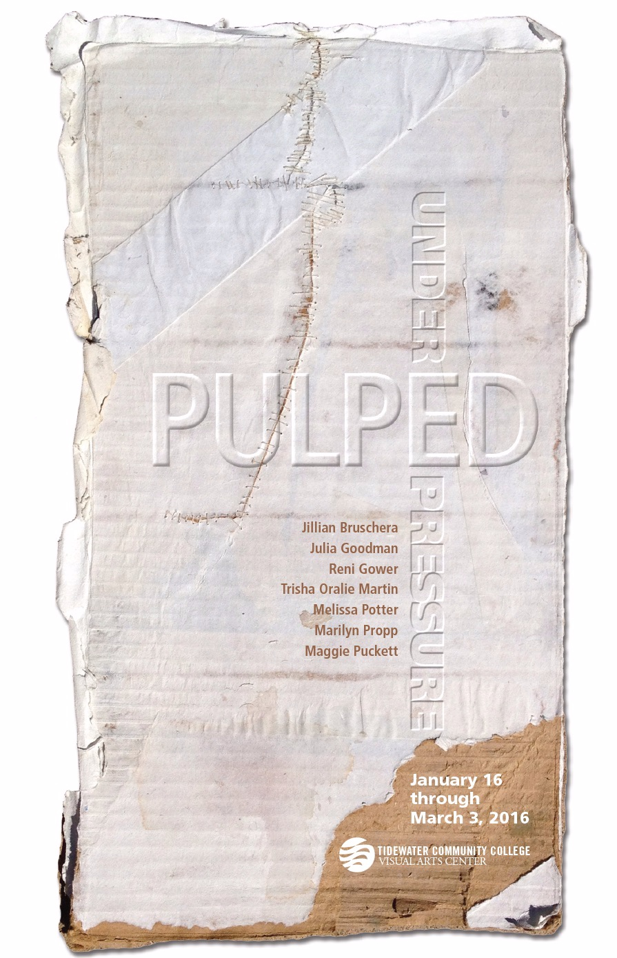 Exhibition card for  Pulped Under Pressure .