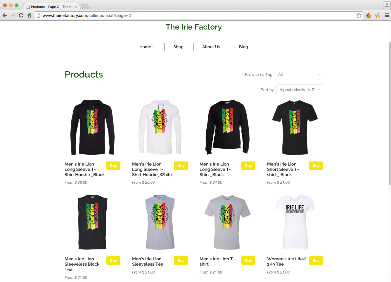 The Irie Factory Online Store