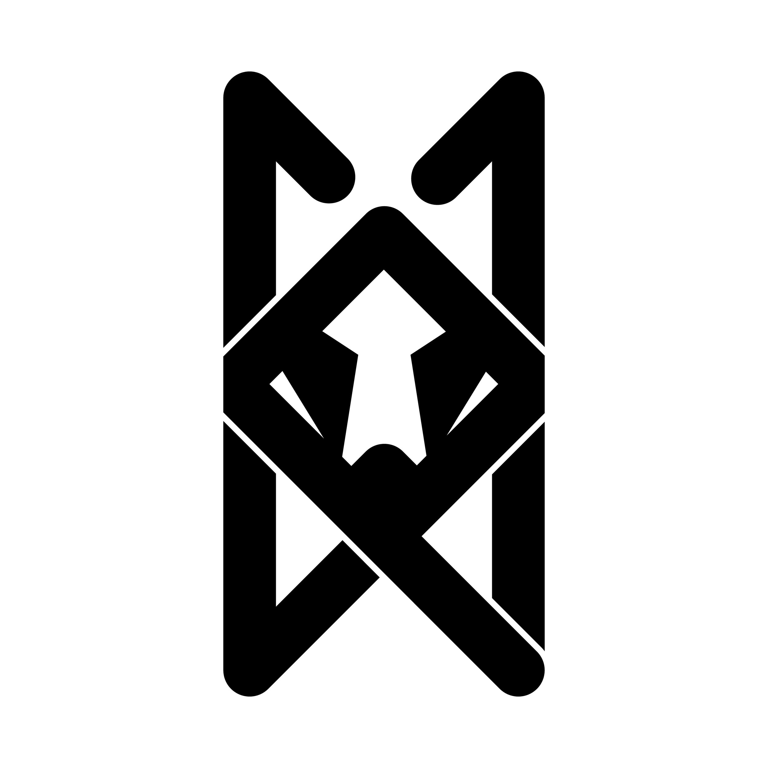 The Wolfpack Brand Icon - After dozens of thumbnails, sketches, trials and errors, the Wolfpack (WP) icon was created.  The four corners (paws and ears) represent the four corners/members of the Wolfpack.