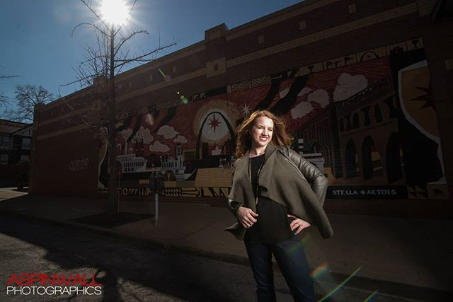 Beautiful redhead with graffiti! I love it when your flash can overpower the sun.  #delmarloop #redheadphotography #stlouisphotographer  #cheetahstand #interfits1 #stlouisgraffiti #dcportraitphotographer