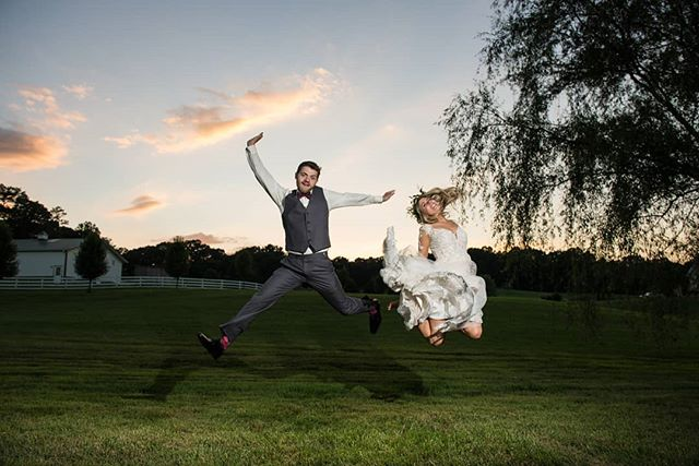"Like David Lee Roth once said...""Might as well jump!"" #virginiaweddingphotographer #yongnuoflash #rockhillplantationhouse"