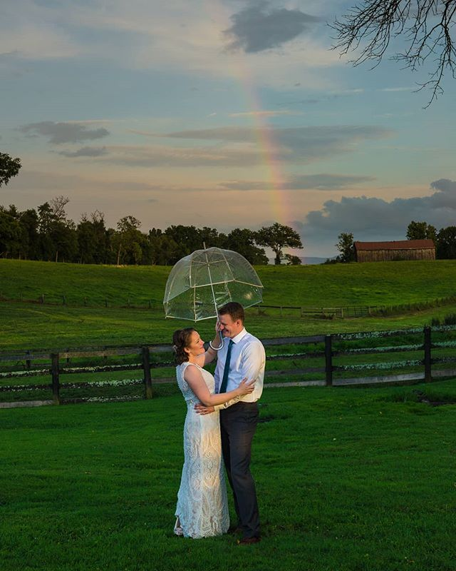 Wedding photography is challenging and often stressful. Long days on your feet. Mind racing. Anticipating the next shot. Then you get shots like this. Wow.  #rainbowwedding #rainbowweddings #virginiaweddingphotographer #mortgagehallweddings #mortgagehallmiddleburg #iloverainbows
