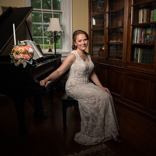 When it's raining outside, what do you do? Do formal shots indoors with the baby grand piano of course!  #mortgagehallweddings #mortgagehallmiddleburg  #pianobride #virginiaweddingphotographer #dcweddingphotographer #virginiaportraitphotographer #dcportraitphotographer