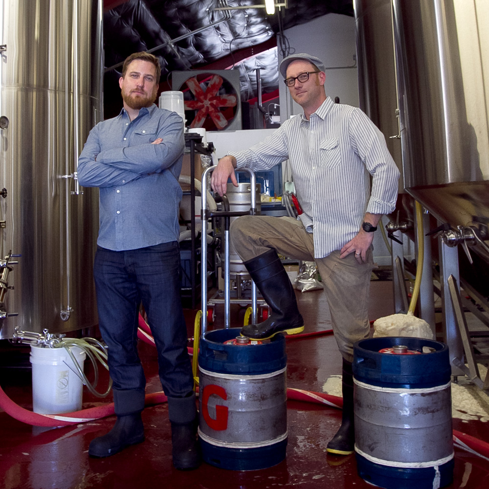 Gigantic Brewing's Ben Love & Ben Havig [photo by Erik Prowell]