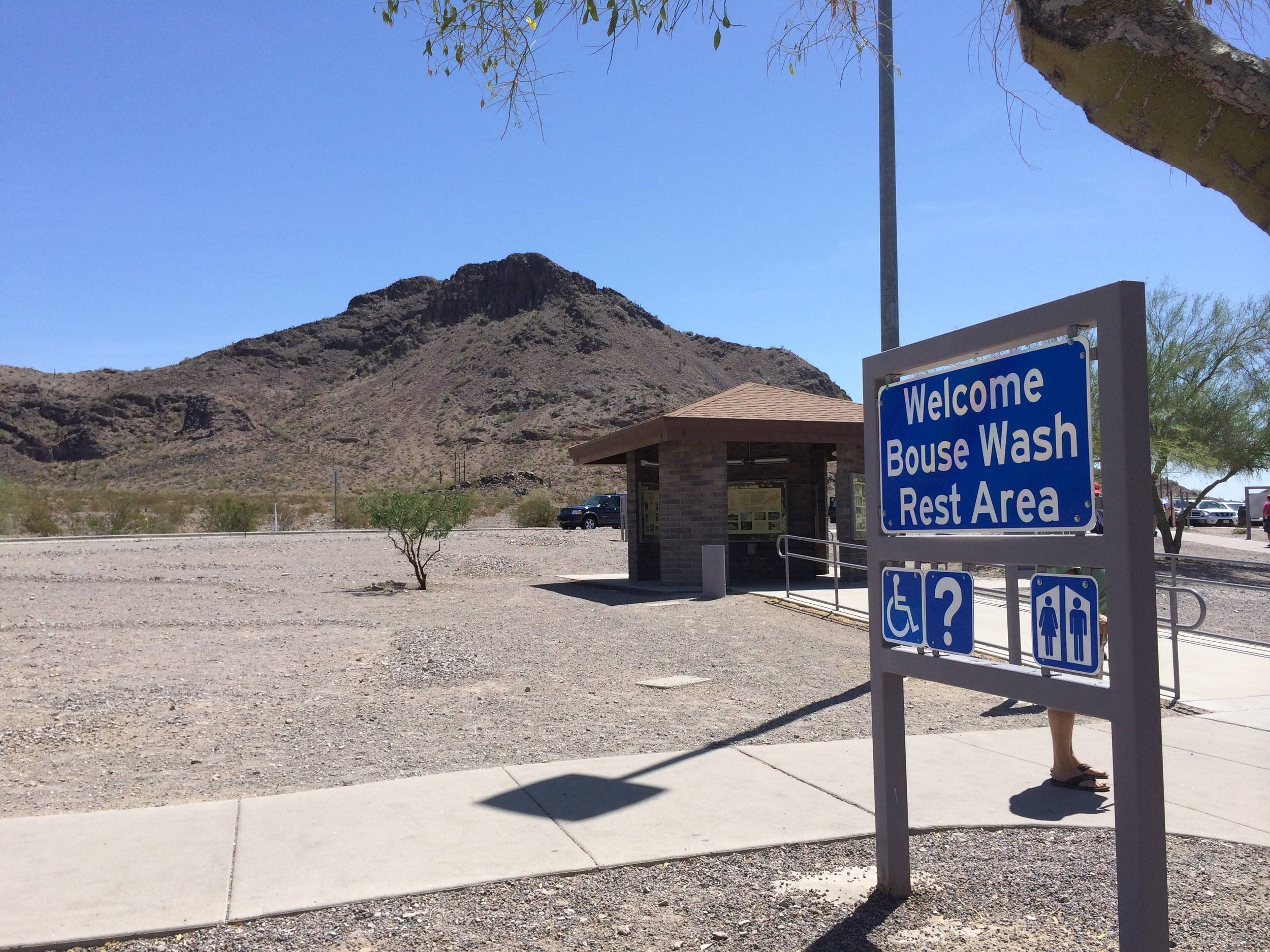 Rest Stop in AZ between Phoenix and Blythe.