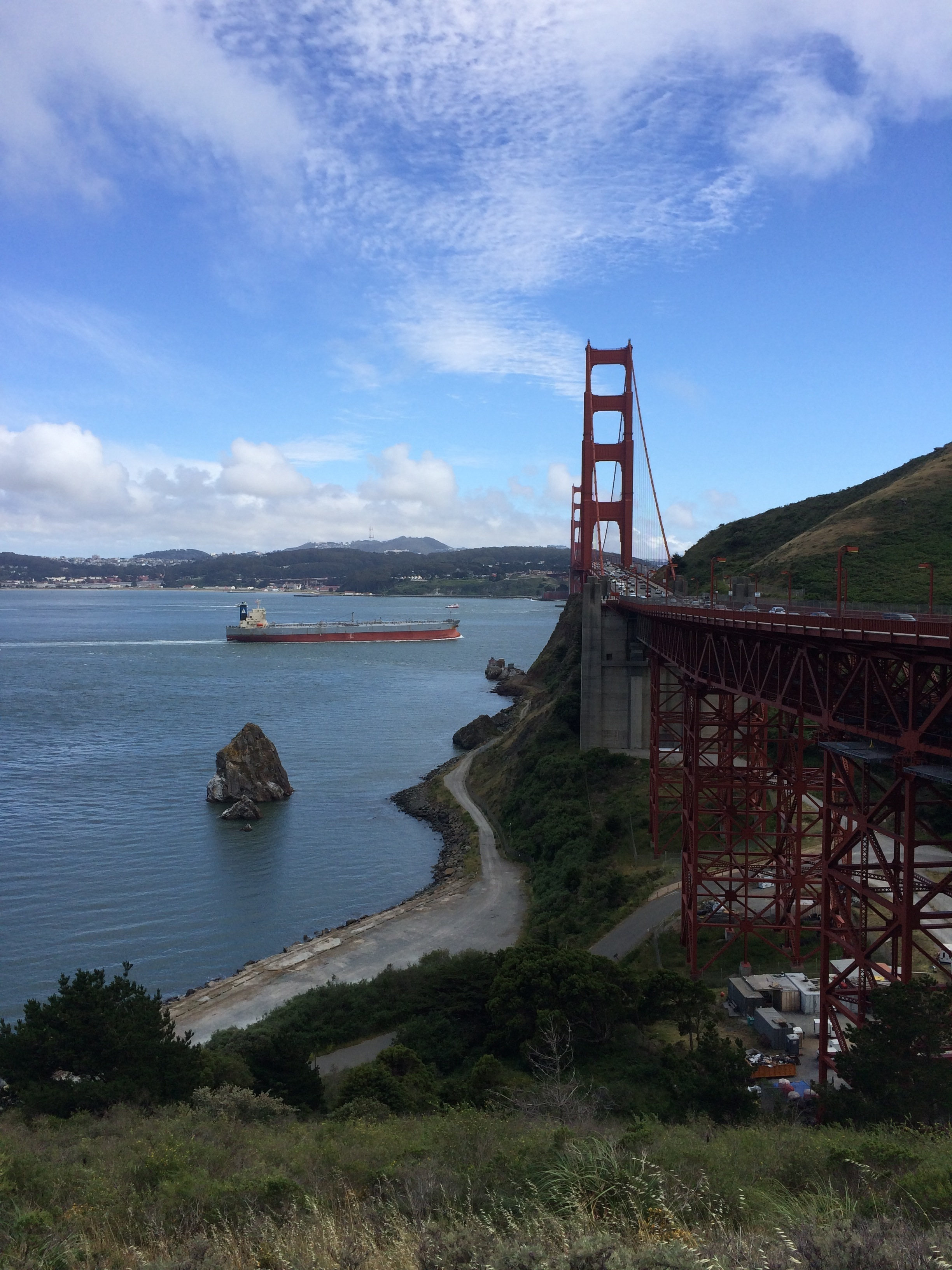 The Golden Gate Bridge. View from North end.