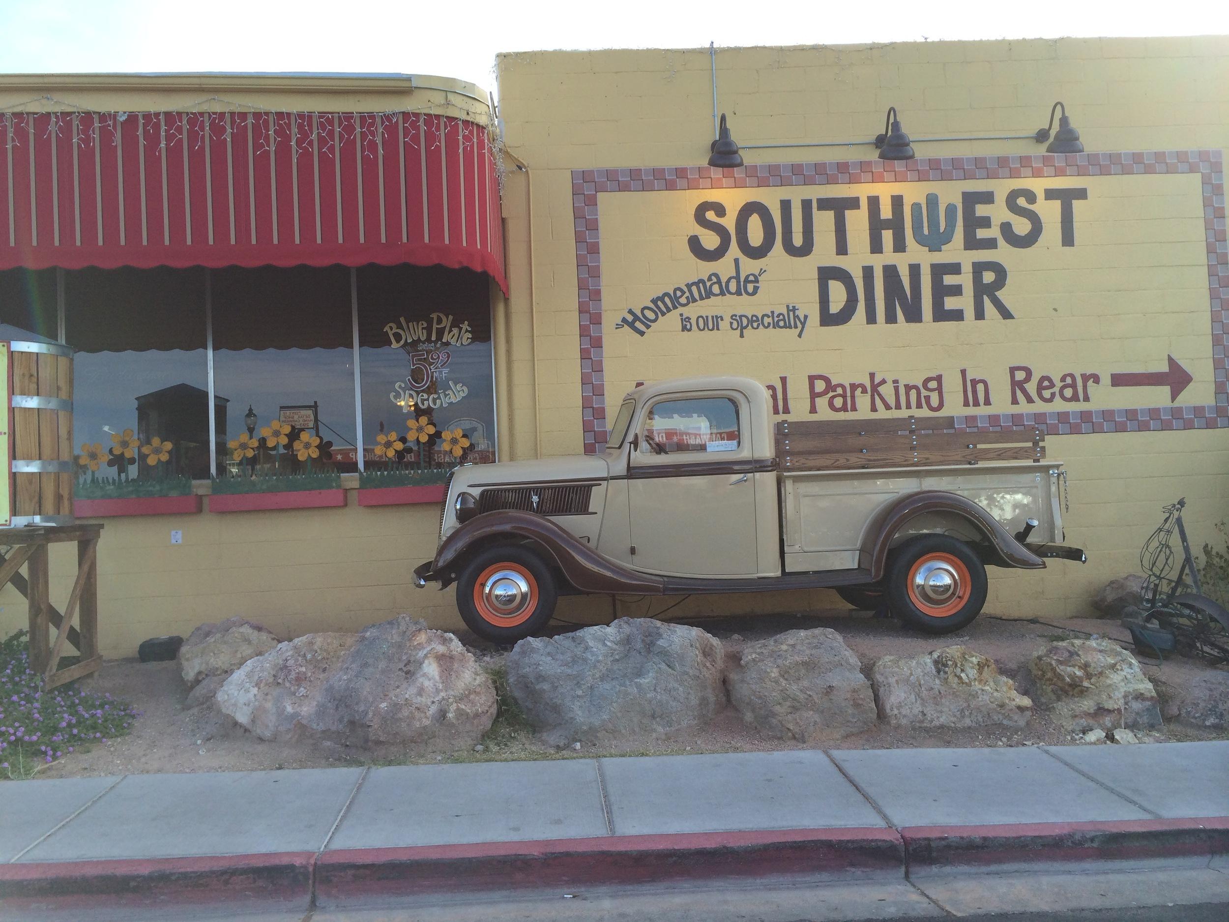 Our breakfast diner in Boulder City, NV .