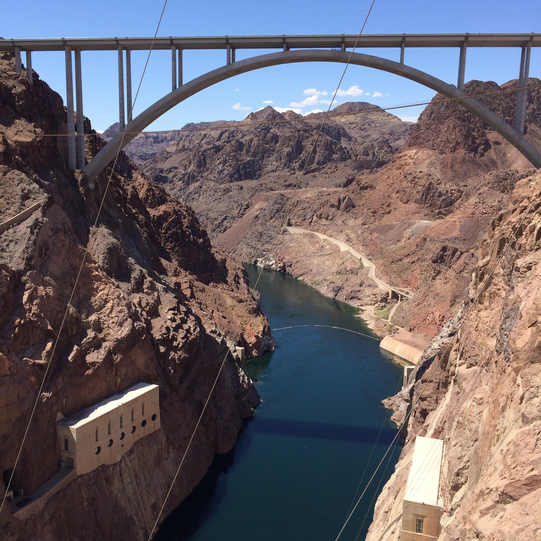 New bridge along side Hoover Dam.