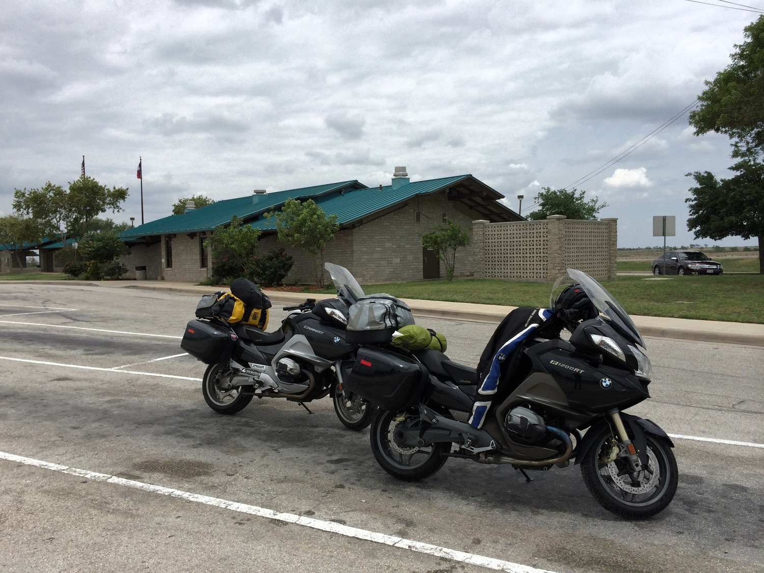 Rest Stop outside of Three Rivers, Texas