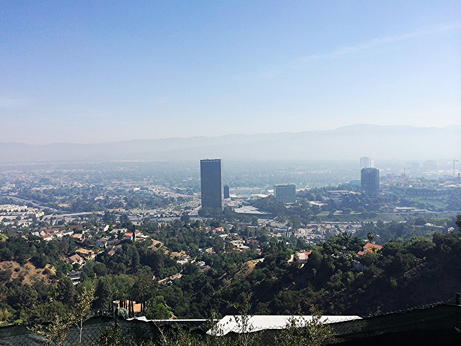 On Mulholland Drive above Universal City.