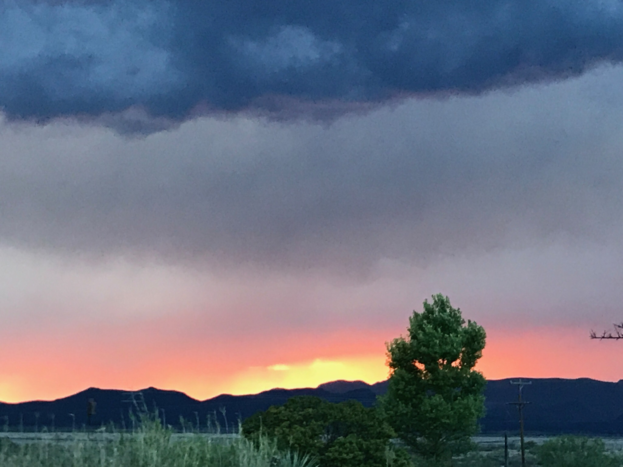 Storm Clouds Moving In Layers of Color and Intensity.