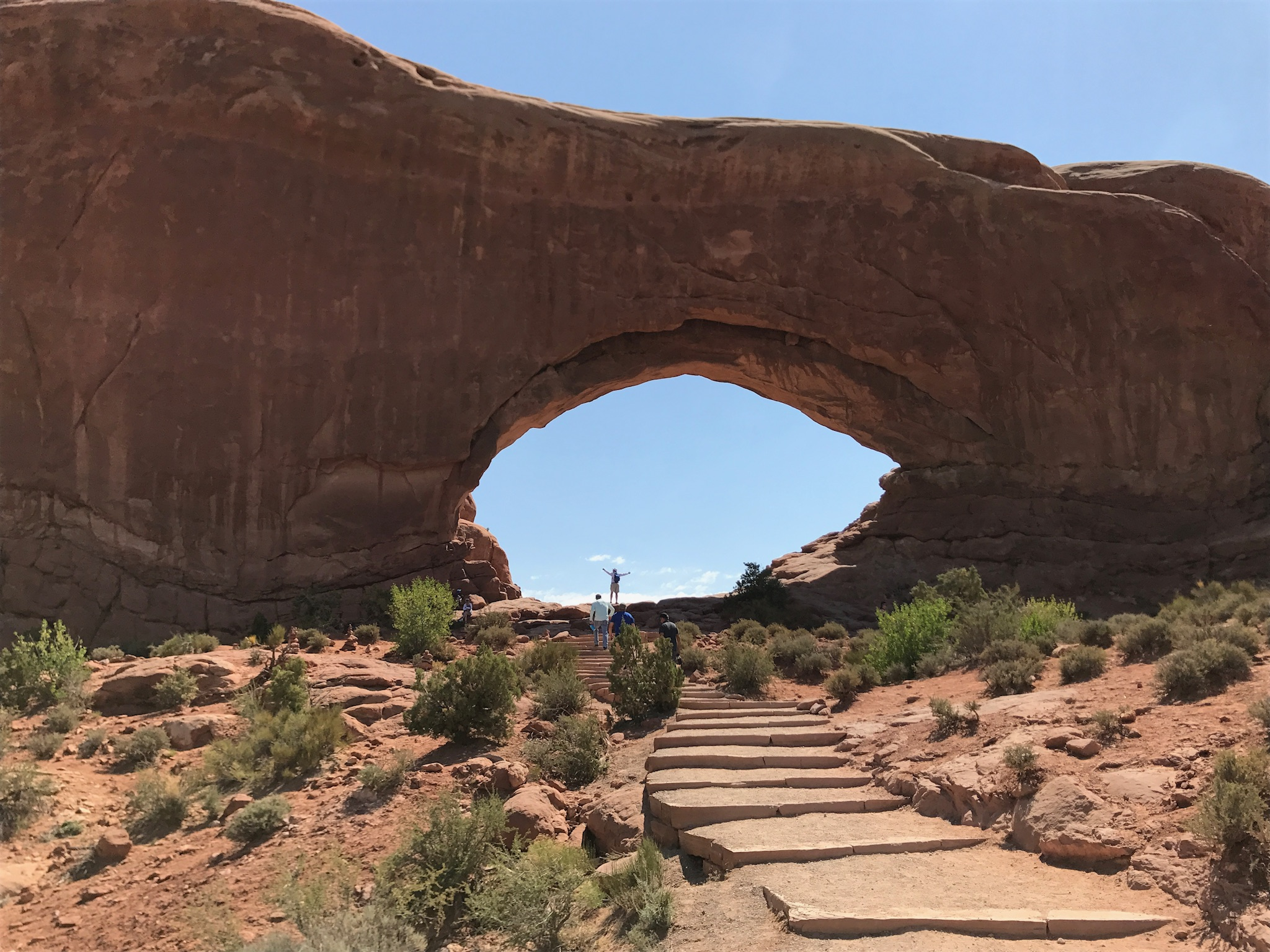 At Arches National Park in Moab, UT.