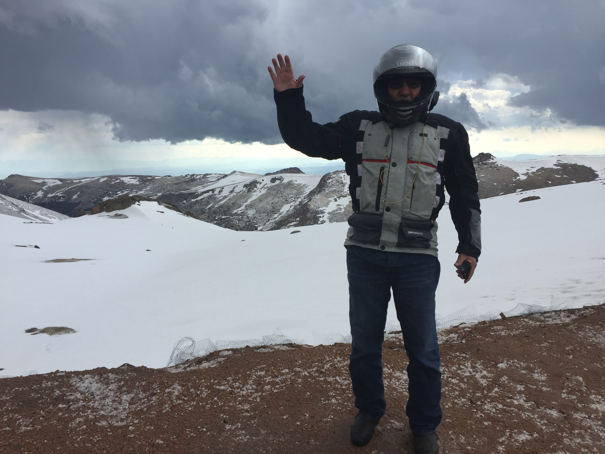 Tomas just short of the summit at Pike's Peak.