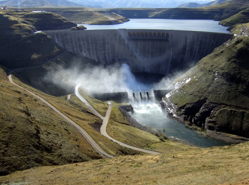 Katse Dam, Lesotho Highlands Water Project, one of the largest infrastructure projects in Africa for which Alfred Latigo has undertaken environmental impact assessment. [  Photo by jjonker/Photobucket]