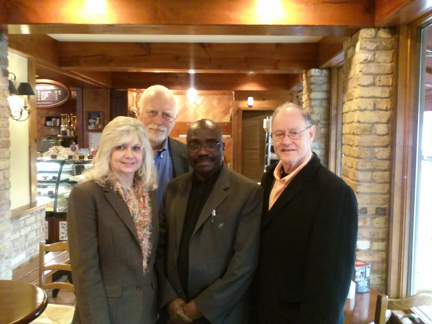 GIDE Executive Director and Kurt Wall (right), GIDE Board Member after a meeting on partnership with Advisors in Dallas, Texas, 2013