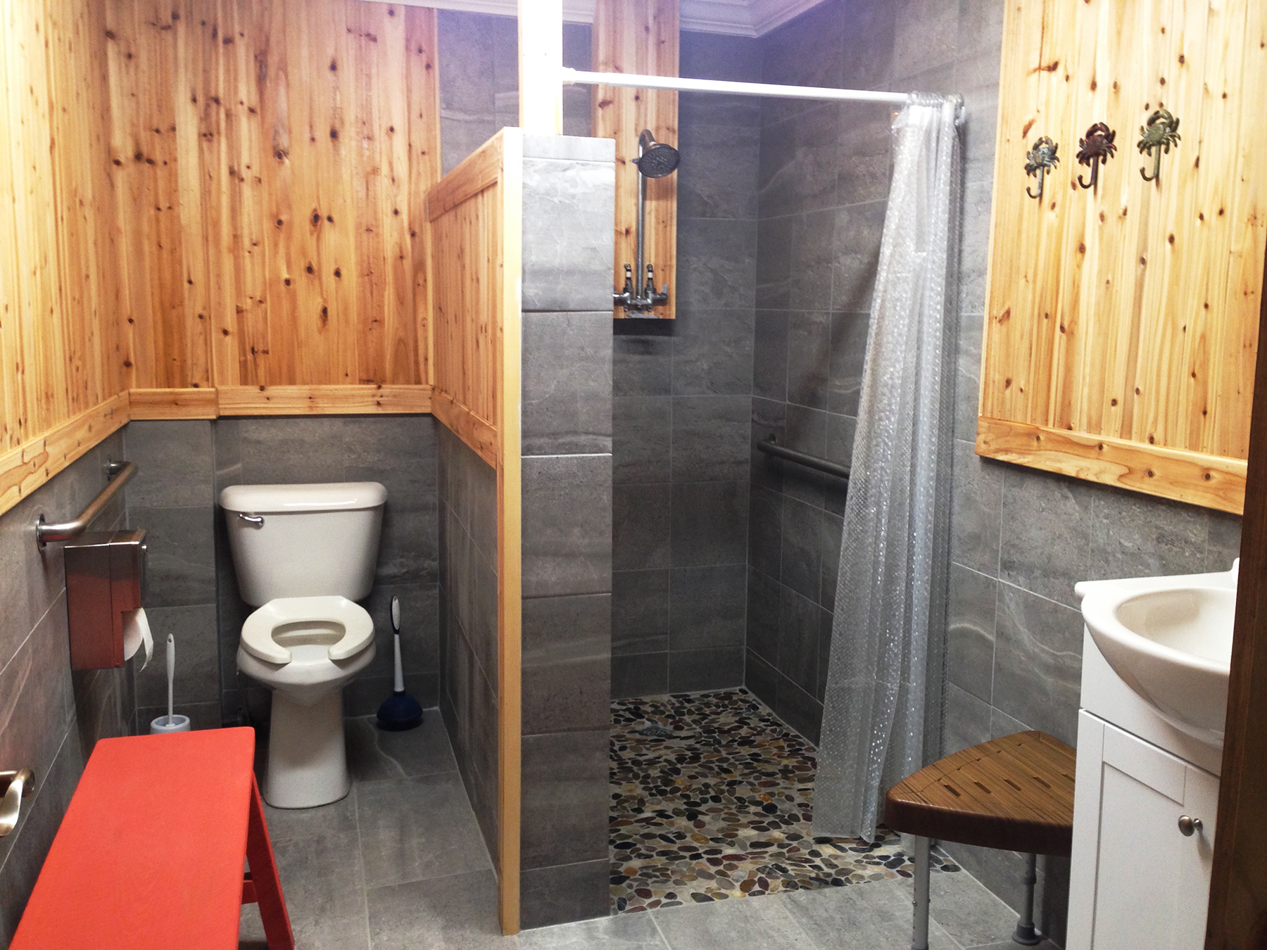 Newly Remodeled Restrooms and Showers