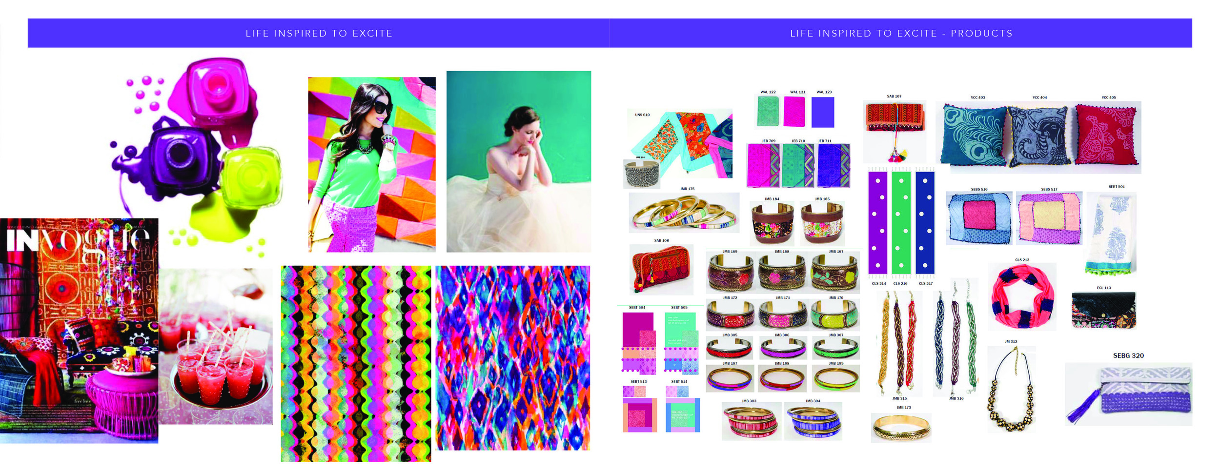 Live life Brightly Mood Board and Product List