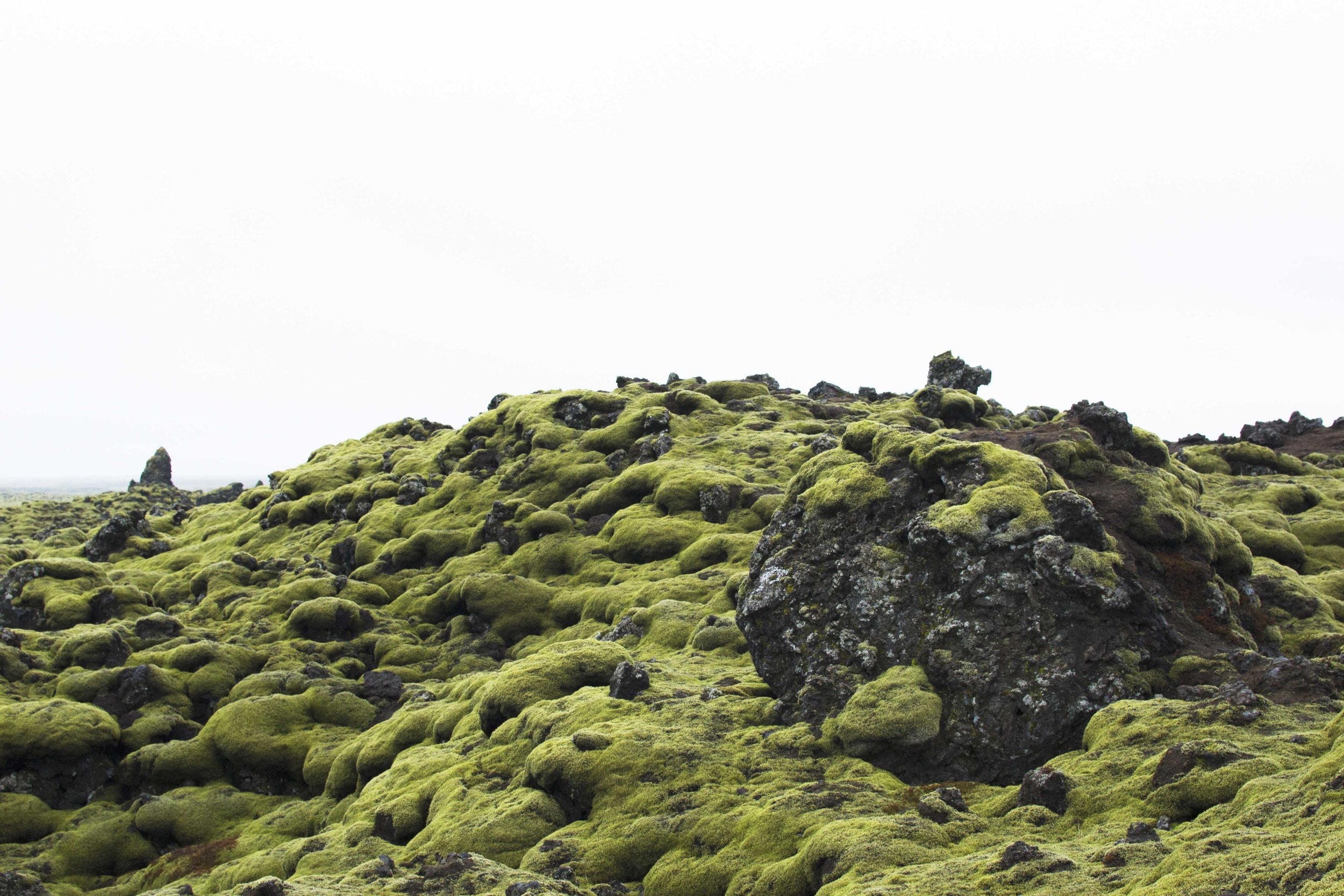 Eldhraun lava field - the third largest lava field on Earth that exists after the Ice Age.