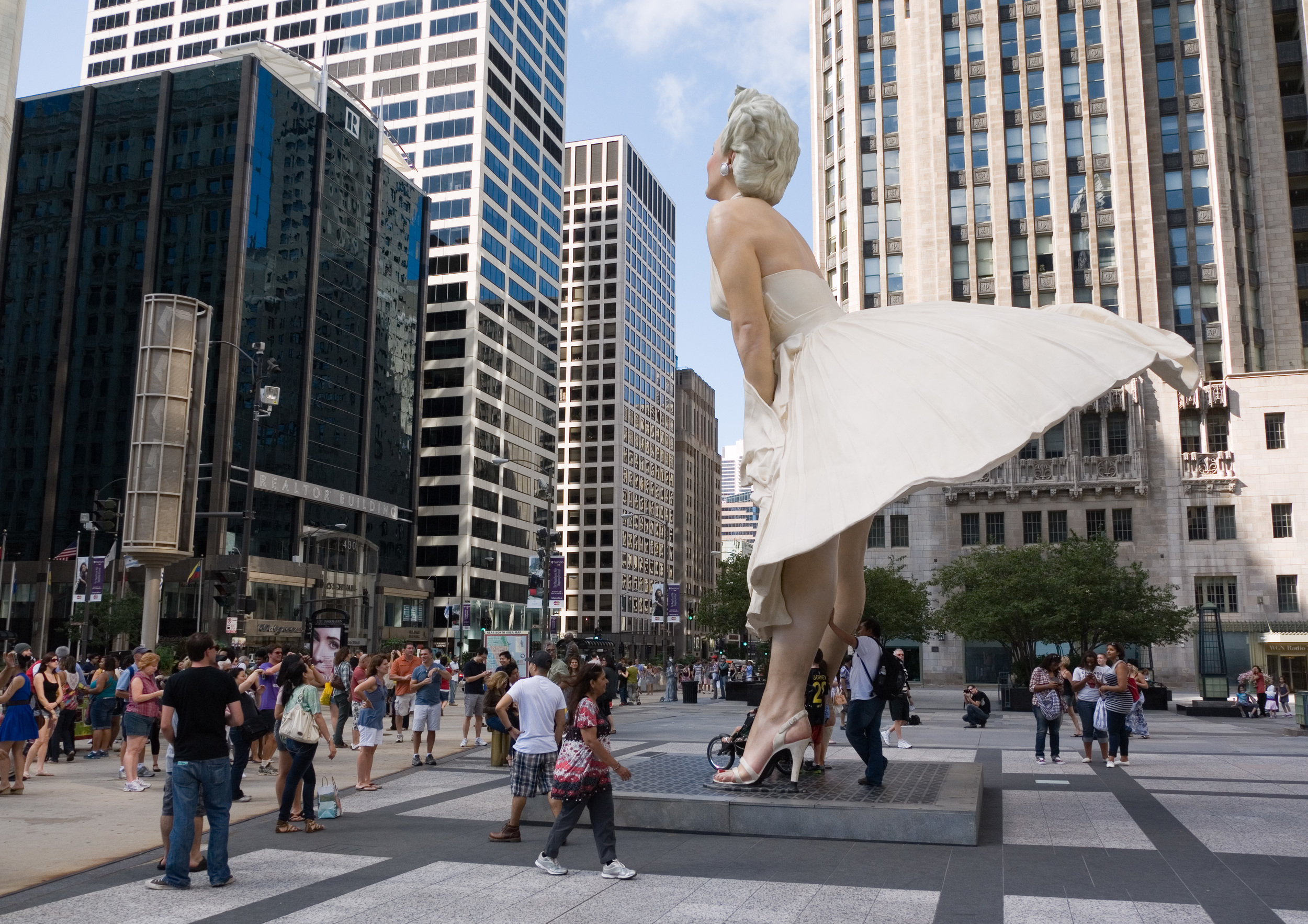 """American Archivists with Seward Johnson's """"Forever Marilyn"""" statue"""