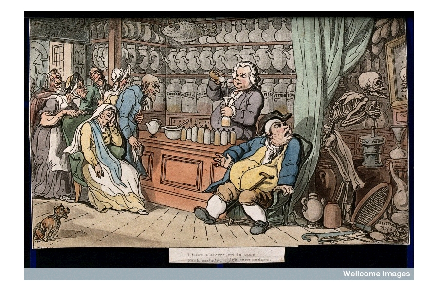 The dance of death: the apothecary