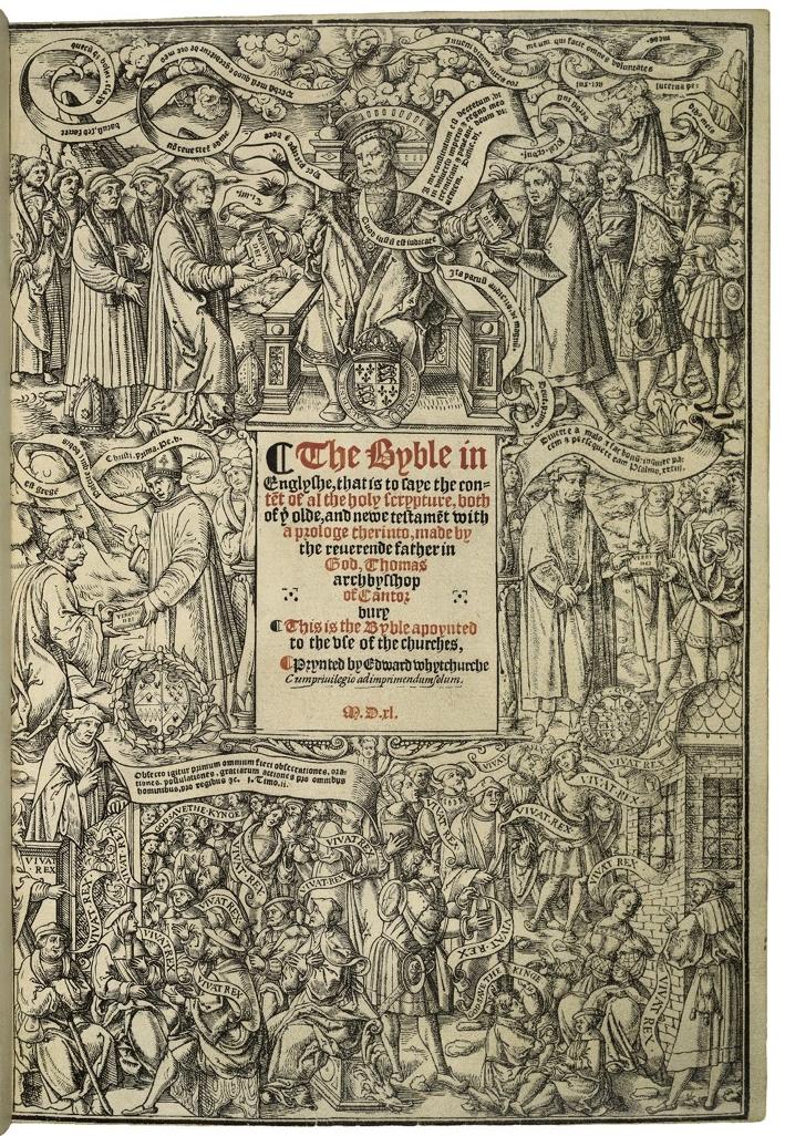 Early English Bible. 1540.