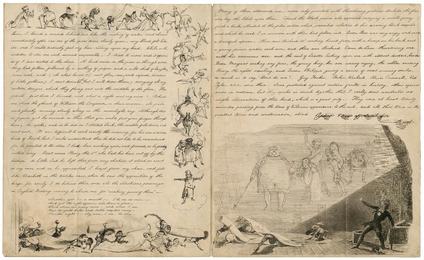 RichardDoyle, 1824-1883, letter.