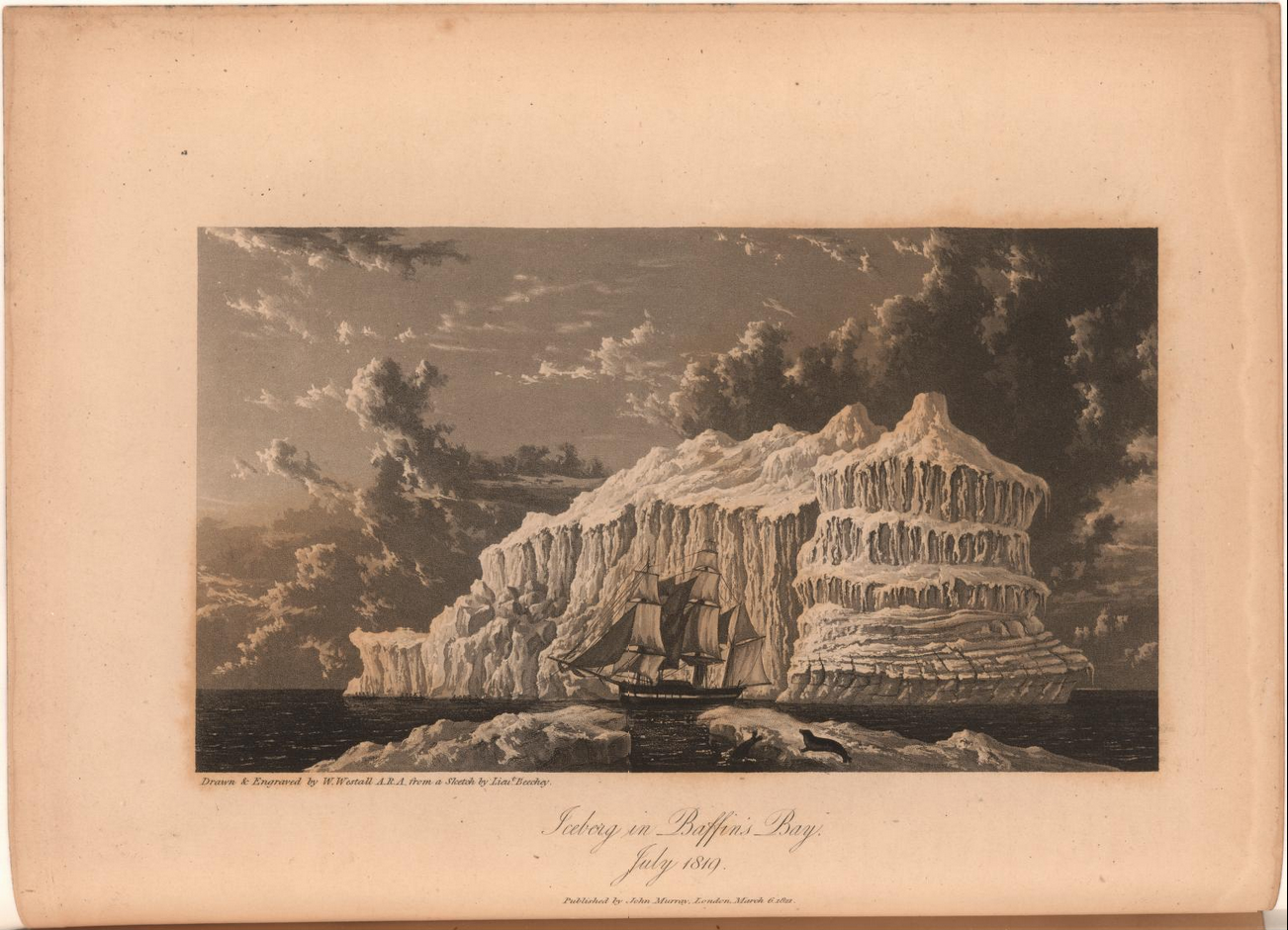 From the journal of a voyage for the discovery of a Northwest Passage under the orders of William Edward Parry.  Image date: 1821.