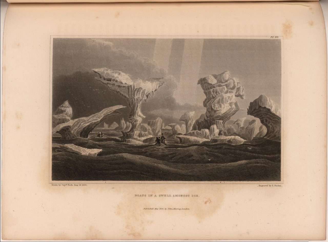 Sir John Franklin's expedition to the shores of the Polar Sea.  Image date: 1828.