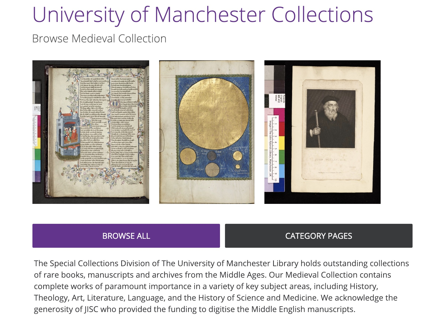 University of Manchester Medieval Collection