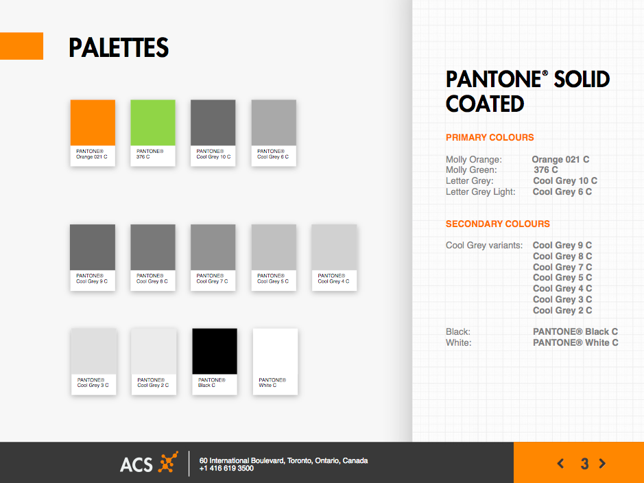 ACS / ALCOLOCK Brand Guidelines: Colour Palettes