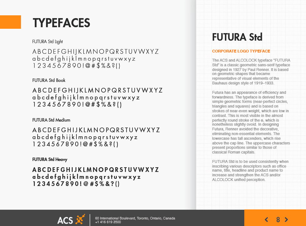 ACS / ALCOLOCK Brand Guide: Typefaces