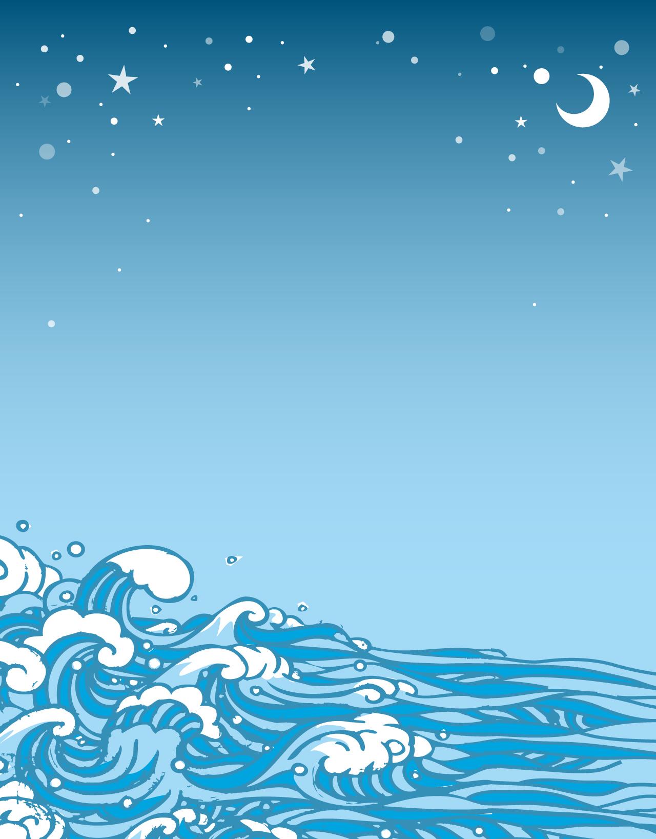 Tidal Ebb Vector Ilustration