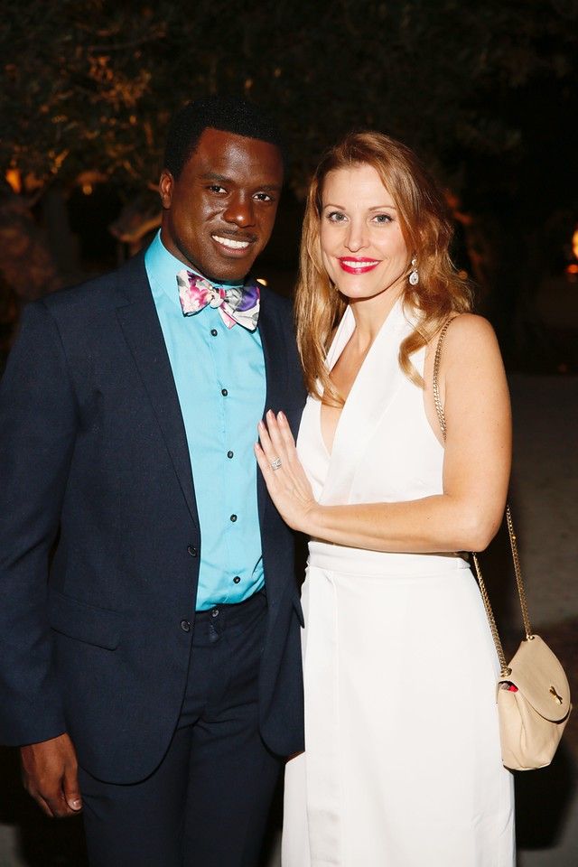 Davon Williams Poses with Broadway and Film Actress, Rachel York, at the Opening Night Party for GREY GARDENS