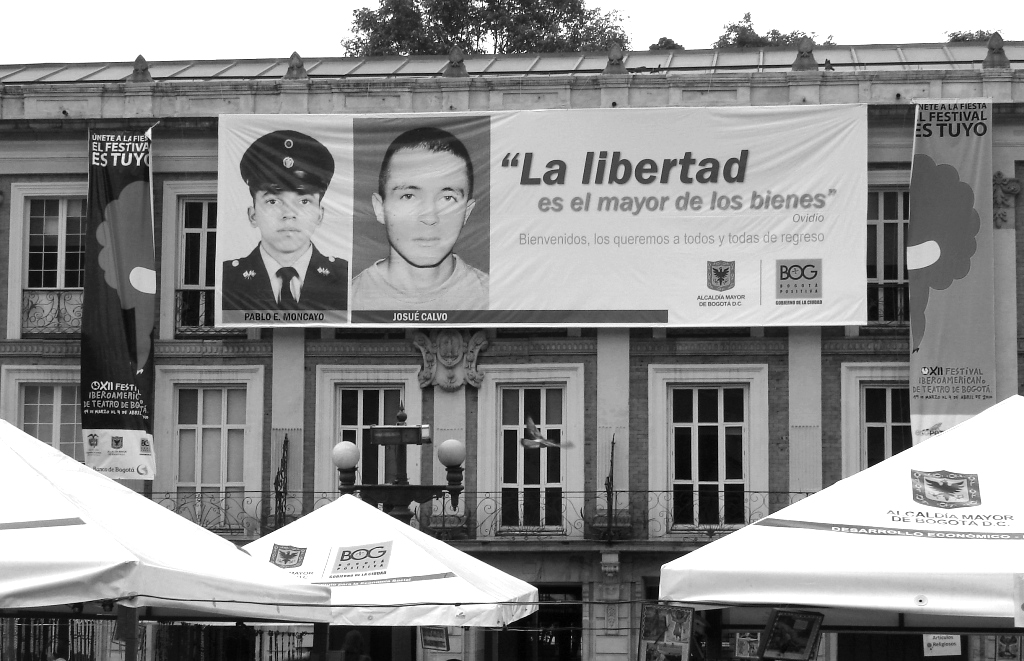"""""""Die Freiheit ist das höchste Gut."""" Bogotá (Kolumbien)"""