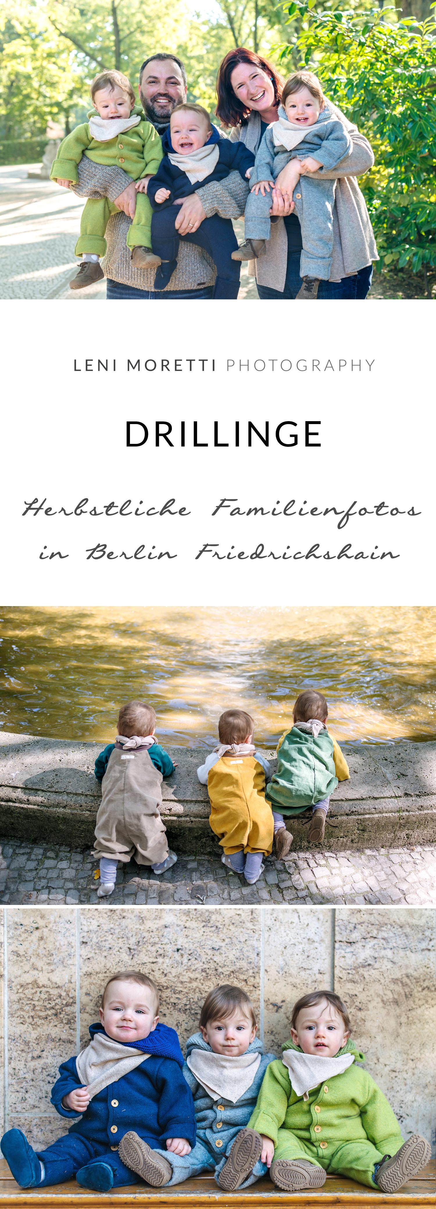 #Drillinge - Familienshooting in Berlin. Merke Dir diesen Pin! © lenimoretti.com